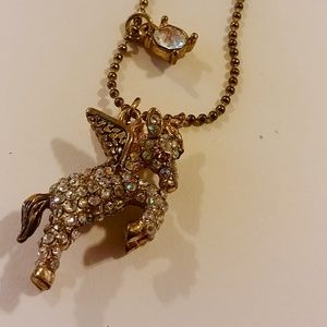 Betsey Johnson Pegasus Necklace